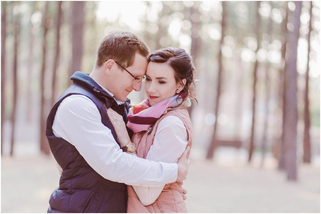 romantic camping engagement